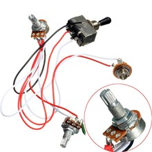 1 set Metal Plastic Electric Guitar Sound Switch Guitar Volume Tone Control Shift Wiring Harness