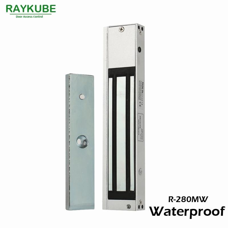 RAYKUBE Magnetic Electric Door Lock 280KG 610LB Waterproof For Door Access Control System R-280MW<br>