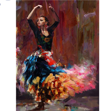 Full, diamond embroidery, 5d, diy, diamond painting, dancing, woman, 3d image, picture, stitch, 3d, diamond mosaic, hand, decora(China)