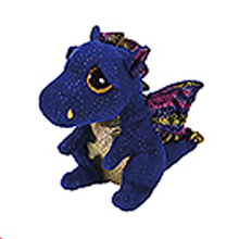 "Pyoopeo Ty Beanie Boos 10"" 25cm Saffire Dragon Plush Medium Stuffed Animal Collectible Soft Doll Toy"