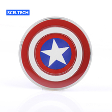 SCELTECH Avengers Universal QI Wireless Charger For Samsung Galaxy S6/S6 Edge S7 NOTE5 Captain America Shield Charging Pad