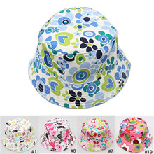 Baby Summer Outdoor Bucket Hats, Fashion Cute Kids Cap,Sun Beach Beanie, Vacation Cap for 2-4 Years Old Children Hats for Girls