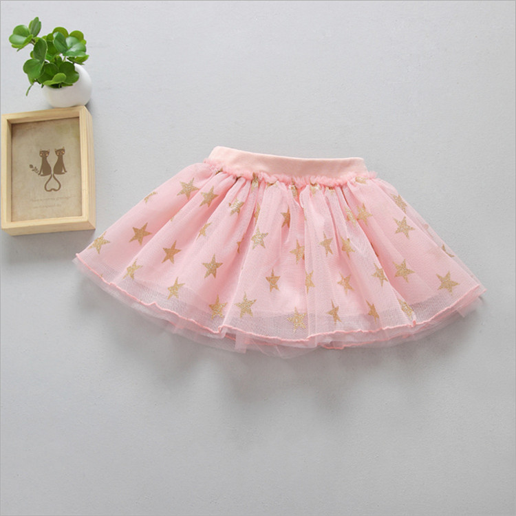 Fanfiluca New Baby Girl Clothes Tutu Skirt Ballerina Pentagram Children Ballet Skirts Party Dance Princess Girl Tulle Miniskirt003