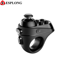 R1 Mini Ring Bluetooth 4.0 Gamepad Rechargeable Wireless VR Remote 3D VR Glasses Game Controller Joystick for IOS Android Phones(China)