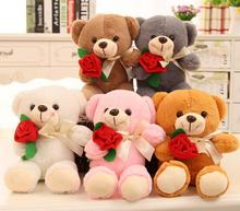 25CM Hot Sale Cute Teddy Bear WEDDING BEAR Plush Toy For Little Babys Gift Soft PP Cotton Stuffed TV Movie Cartoon Figure(China)