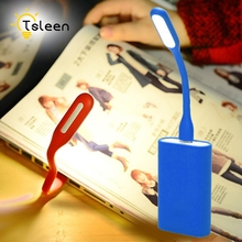 TSLEEN Cheap Mini USB LED Light Flexible Lamp For Power Bank Flashlight Computer Keyboard Reading Notebook PC Laptop(China)