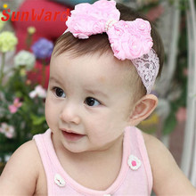 Elegant Nobility Fashion 1PC  Girls Kids Pearl Headband Bow Lace Headband Flower Headwear Children Hair Accessories