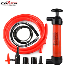 Portable Car Tire Water Oil Fuel Change Transfer Gas Liquid Pipe Siphon Tool Air Pump Kit Oil Water Transfer Hand Pump Sucker(China)