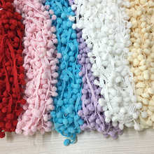 MEIDDING 20Yards/Lot DIY Pom Pom Lace Trim Ball Fabric Pearl Fringe Ribbon Sewing Decor Cloth Knitted Handmade Craft Accessories(China)