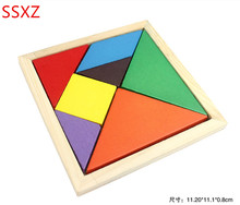 SSXZ Jigsaw Puzzle Educational Wooden Toys Developmental Toy Large Wooden Tangram Brain Teaser Puzzles For Children