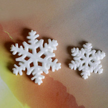 20pcs Snowflake Micro Landscape Christmas Figurines Miniature Craft DIY Assembly Fairy  Garden Ornaments Home Decor