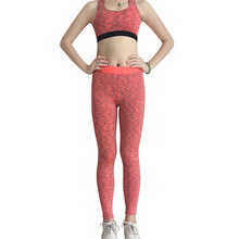 Yuerlian 2 Pcs Sexy Quickly Dry Yoga Set Workout Sports Suit Tights Crop Top Gym Leggings Women'S Kits Sport Costumes For Women(China)