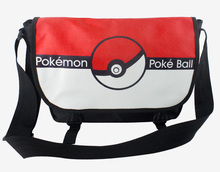 Anime Pokemon Poke Ball School Bags Double Buckle Shoulder Bag For Students Boys Girls Cartoon Cool Travel Bag Messenger Bags(China)