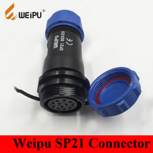 Original Weipu SP21 Connector SP2111/S 2 3 4 5 7 9 12 Pin IP68 In-line Cable Female Socket Connector Dust Cap SP2111/S*