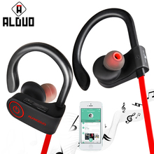 ALANGDUO G6 Sport Bluetooth Headphones Wireless In-ear Earhooks with Mic Music Headsets Hands Free Waterproof Sports Earphones(China)