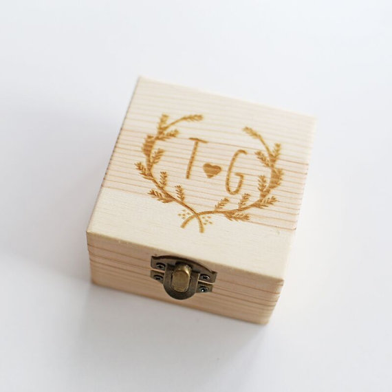 Custom Wedding Guest Book Box Ring Personalized Memory Box Rustic Wedding Guestbook Custom Wood Keepsake Box Ring In Party Favors From Home