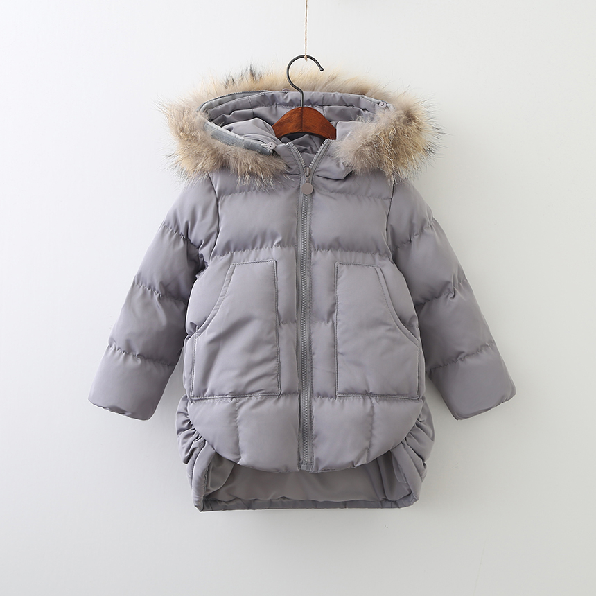 Children Zipper Clothing Thickened Parkas Toddler Girls Autumn Winter Hooded Clothes Wholesale Solid Coats Baby 6pcs/LOT<br>