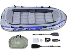 Intex Excursion 5 person inflatable boat sets/large inflatable fishing boat for river lake ocean draft