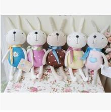 10PCS Many color smile rabbit cute and pretty plush toys Wedding decorations birthday present free shipping(China)