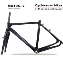 Buy 2017 Carbon CycloCross Frame Top 10 best V-brake 700c toray Carbon Cyclocross Frame Di2 Toray t700 Carbon Bike Frame for $399.00 in AliExpress store