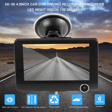 4 inch Car DVR 170 degrees Ultra Wide-angle Video Looping Driving Recorder Camcorder with 3 Number Of Lenses LED Vision Lights(China)