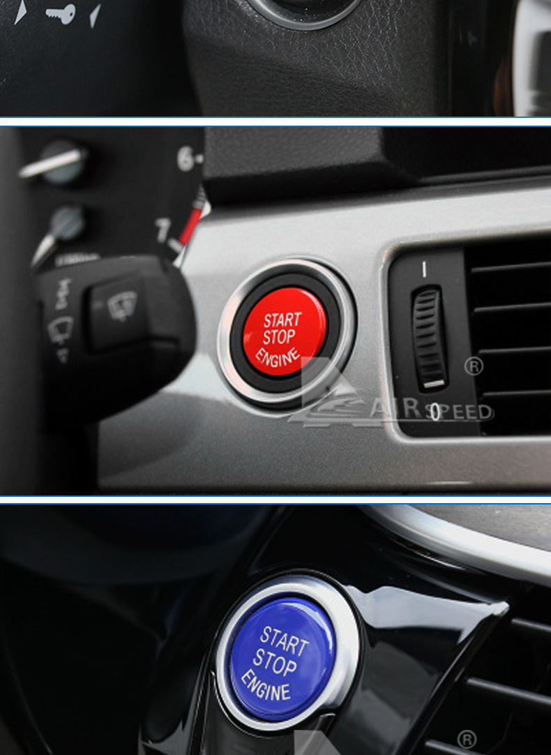 Car Engine Start Button Accessories for BMW E90 E91 E92 E93 E60 E84 E83 E70 E71 F30 F15 F25 F10 F20 F01 G30 Car Styling (7)