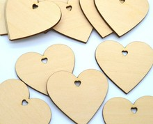 WOODEN WOOD LOVE HEART DECOR WEDDING CARD WISH TREE GIFT TAGS CELEBRATIONS CRAFT