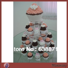 Wholesale 4 Tier Round Carton Cupcake Display Stand on Sale