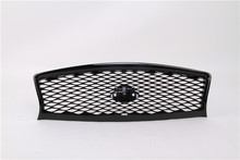 Bright Black Color Fit for Infiniti Q50 Q50L 2014 2015 2016 2017 Front Bumper Hood Grille Grill