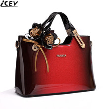 2018 new luxury handbag women bag designer high quality patent leather handbags famous brand evening party clutch messenger tote(China)