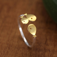 2016 new arrival 925 sterling silver ring three gold fish cute and special real silver open ring hot sale for women