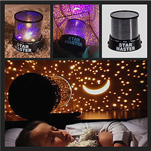 Novelty LED Night Light Star Sky Projector Lamp Cosmos Master Romantic Room  Starry Sleeping Lights baby Kids Children 2 Mode