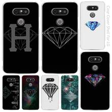 Purple nebula diamond supply co Clear Cell Phone Case Cover Shell for LG K3 K4 K8 K10 G3 G4 G5 G6 2017 V10 V20 K5 stylus3(China)