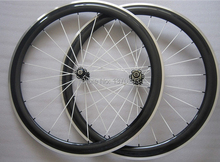 50mm clincher carbon wheels with alloy brake surface with Novatec hub 8/9/10/11 speed available including painting(China)