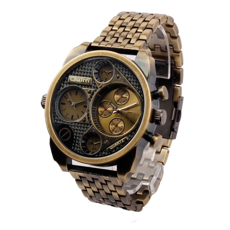 Top Brand Luxury Shenhua Mechanical Watches Men Fashion Retro Bronze Skeleton Multiple Time Zone Watch Wristwatch Reloj Hombre<br><br>Aliexpress