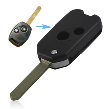 New Style 2 Buttons Modified Flip Folding Remote Key Fob Shell Case For Accord CRV Odyssey For Honda