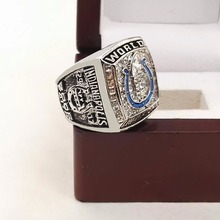 The Best Quality 2006 Indianapolis Colts Super Bowl Championship Ring for Fans with Wooden Boxes(China)