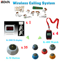 Most Cheap Wireless Calling System for Coffee Restaurant hotel waiter call service equipment(China)