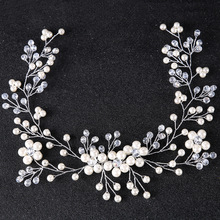 Floral Wedding Hair jewelry Rhinestone Bridal Headpiece Flower Hair accessories women Hair ornaments Handmade bride head piece(China)