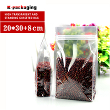 5 PCS 20x30cm Transparent Ziplock Bags / Comida Mascotas Pouch / Ziplock Clear Stand Up Bag