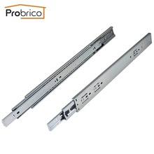 "Probrico 2 Pair 20"" Soft Close Ball Bearing Drawer Rail Heavy Duty Rear/Side Mount Kitchen Furniture Drawer Slide DSHH32-20A(China)"