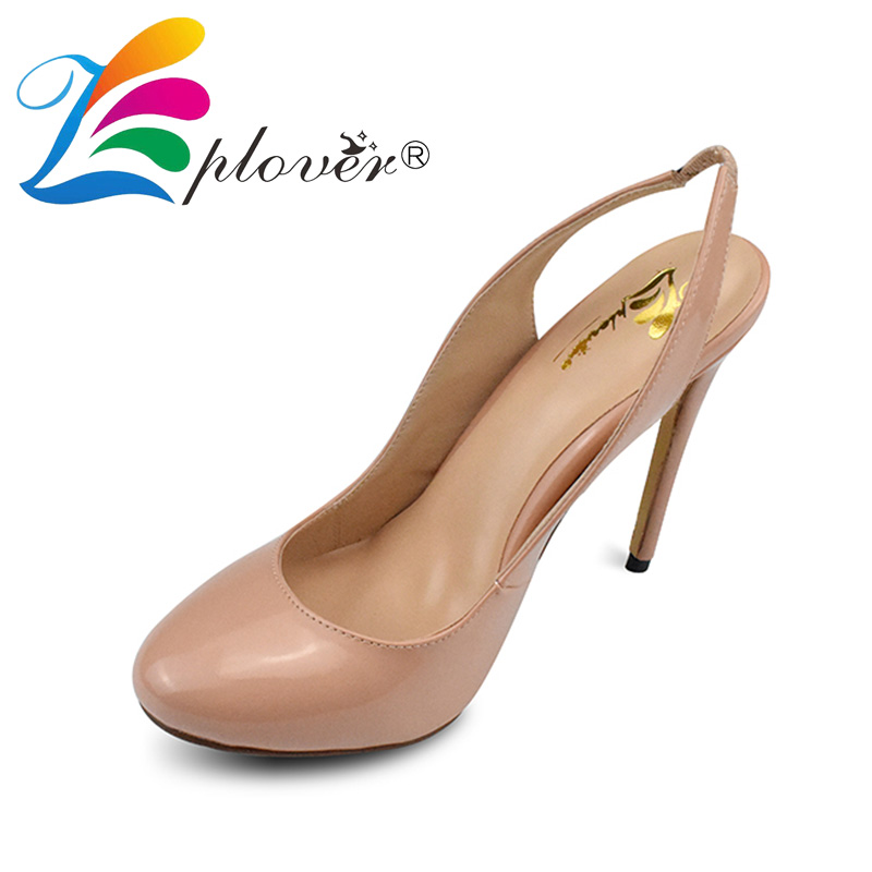 Zplover Wedding Women Shoes Pumps Sexy Round Toe High Heels Pumps Shoes 2017 New Fashion Slingbacks Thin Heels Ladies Shoes <br>