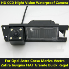 For Opel Astra H J Corsa Meriva Vectra Zafira Insignia FIAT Grande Buick Regal Car CCD Night Vision 4LED Backup Rear View Camera