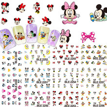 11 Designs 1sets Cartoon Water Printing Stickers Nail Art Beauty Cute DIY Tips Nail Decoration Nail Decals Tools TRBLE2248-2258