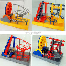 2016 NEW Electronic DIY Construction Desktop Marble Run Maze Balls Track Toys intelligence Educational Toy with music & light(China)