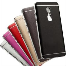 Xiaomi Redmi note 4 case good quality Electroplating PC border PU leather mobile phone cover for Xiaomi Redmi note 4 pro