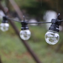 waterproof hanging led globe ball led festoon string light christmas fairy light garland G50 outdoor patio wedding party 13m