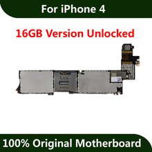 Unlocked Mainboard For iPhone 4 Motherboard 16GB Good Working Original IOS Installed Logic Board(China)