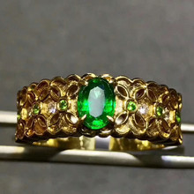 hot sale 18k gold gemstone ring for women MEDBOO new style high classic 0.3ct natural green emerald ring luxury hand jewelry(China)