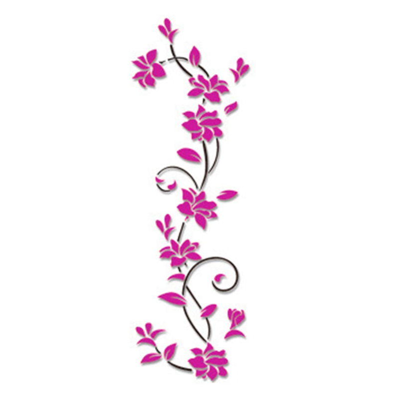 HTB1kxqkdmfD8KJjSszhq6zIJFXan - Hoomall Acrylic Flower Wall Stickers Poster New Year Decorations Removable Stickers for Kitchen DIY Wall Stickers for Kids Rooms